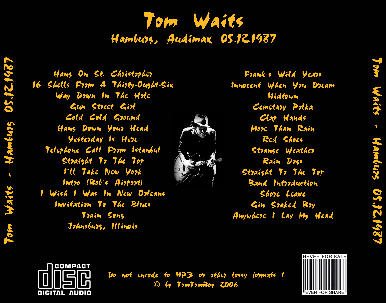 Sugarmegs audio setlist tomwaits1987 12 05audimaxhamburggermany 1g stopboris Images